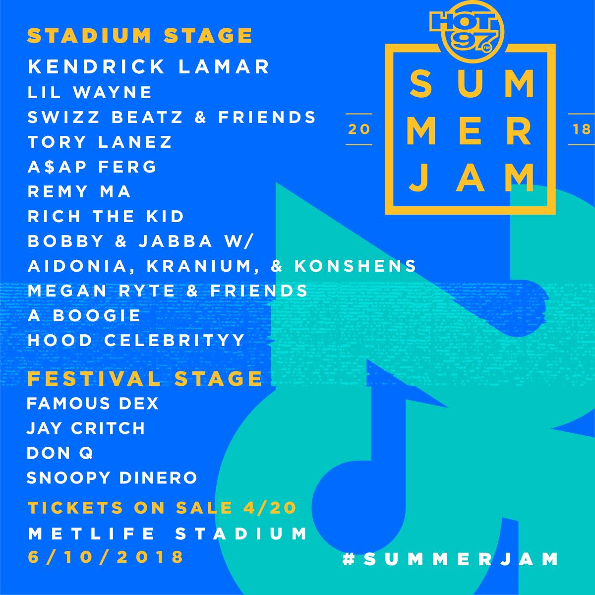 Hot 97 Summer Jam lineup