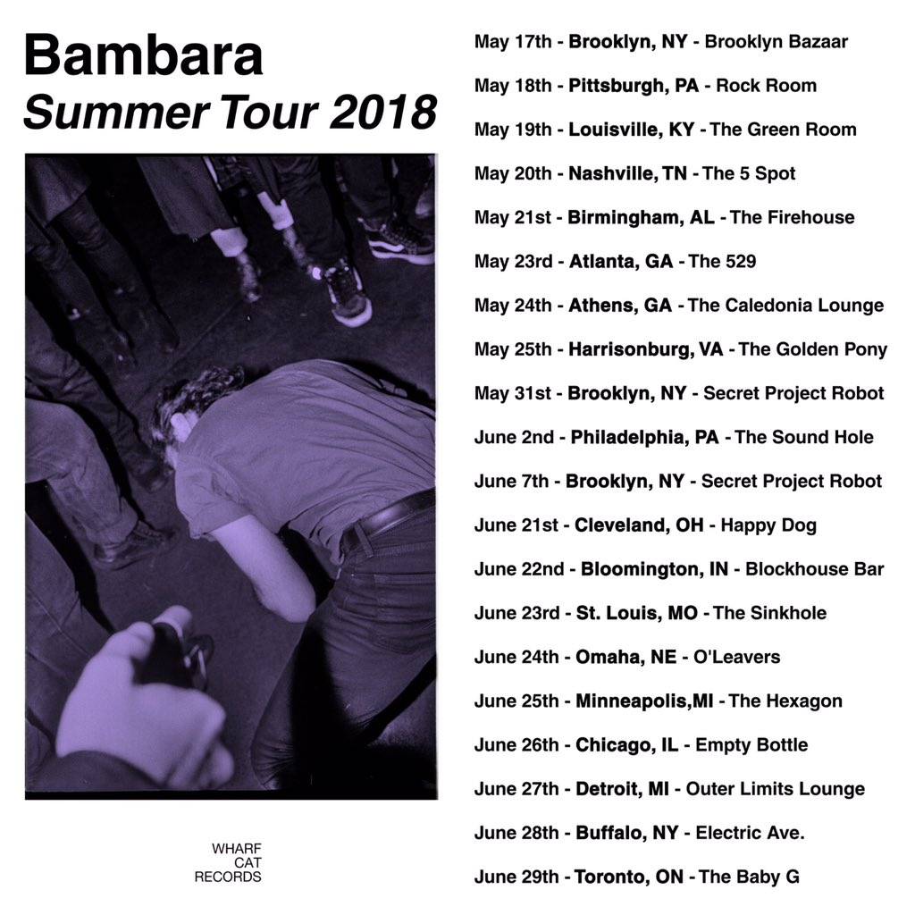 Bambara tour dates