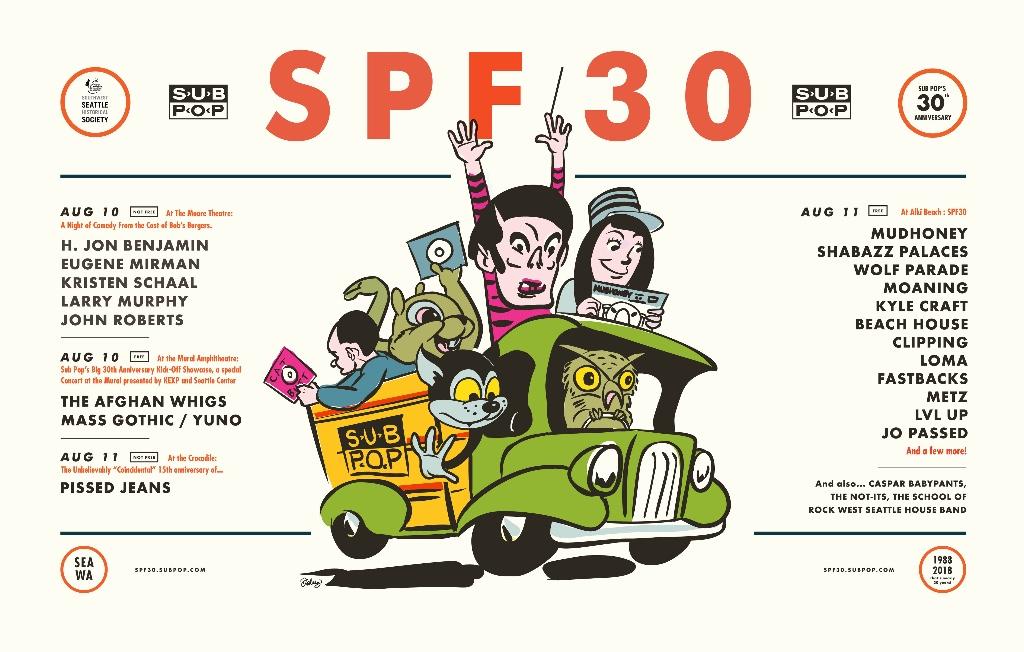Sub Pop 30th anniversary festival