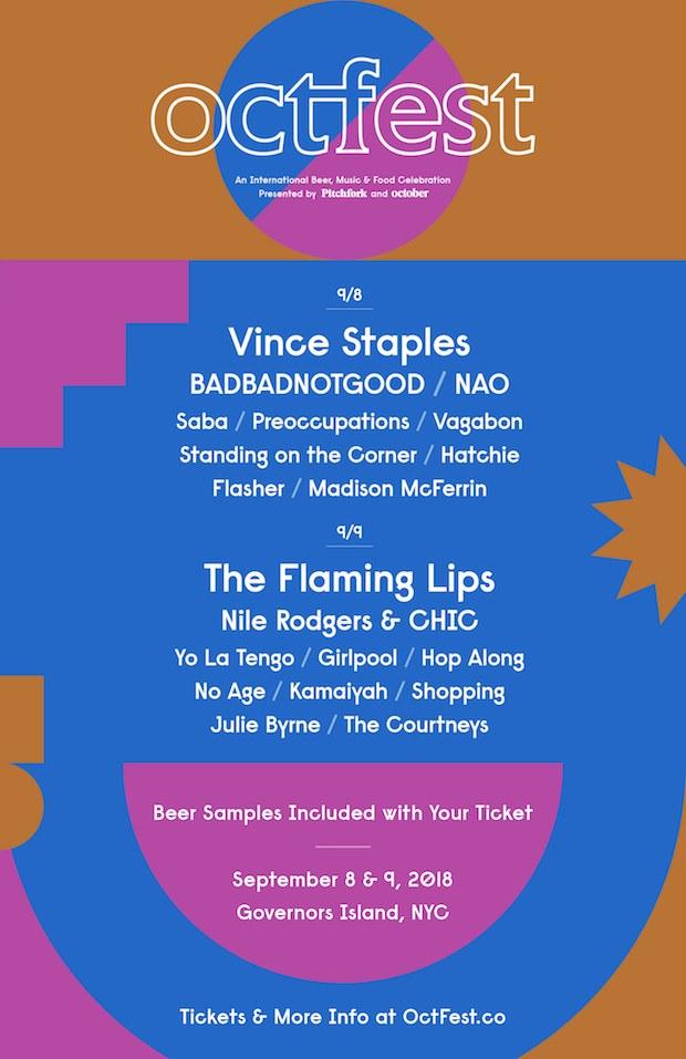 OctFest 2018 lineup