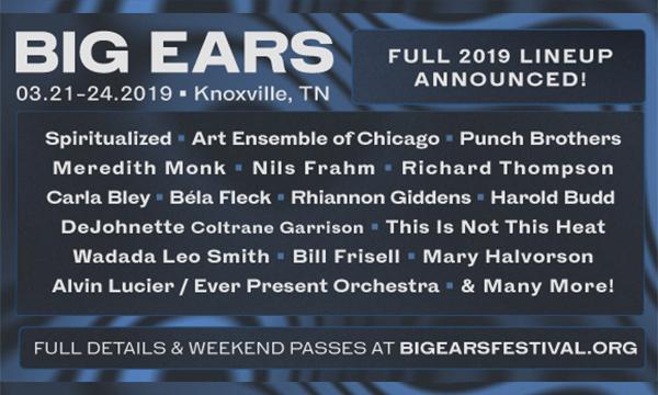 Big Ears Festival lineup 2019