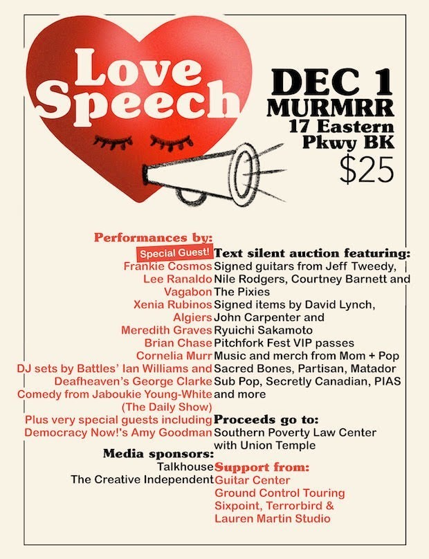 Love Speech benefit show