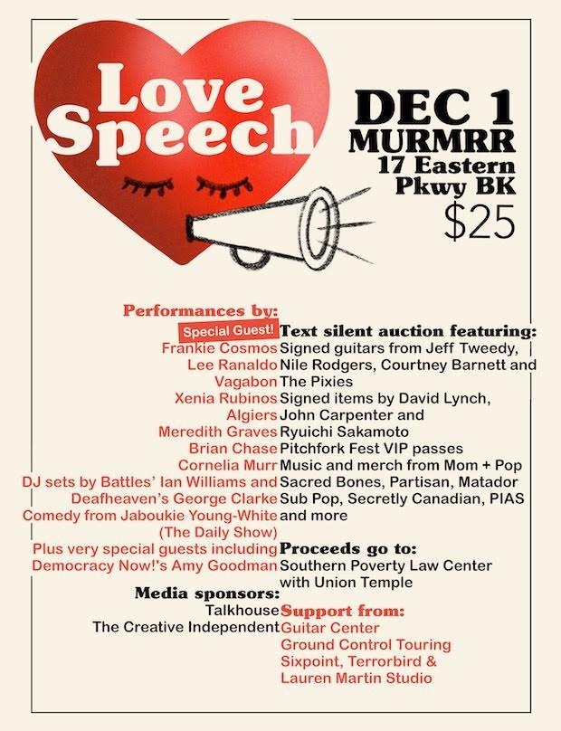 Love Speech benefit show