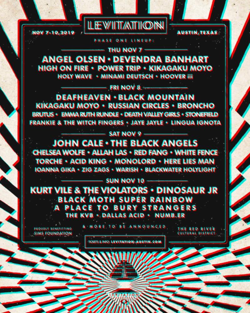 Levitation 2019 lineup