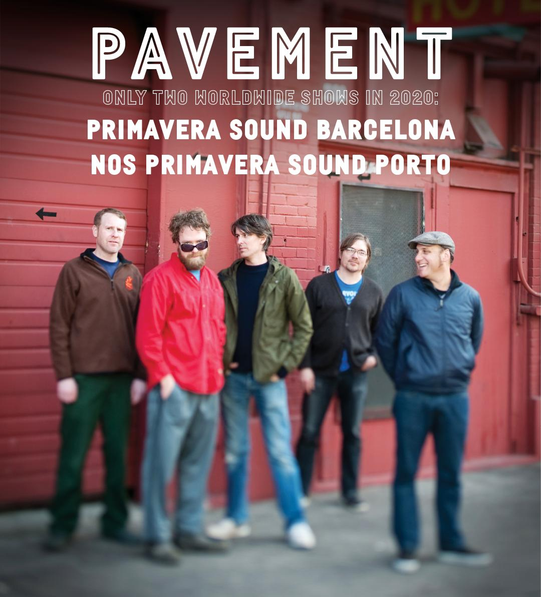 Pavement reunion shows