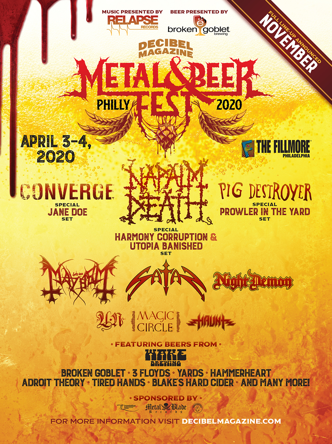 Decibel Metal and Beer Fest 2020