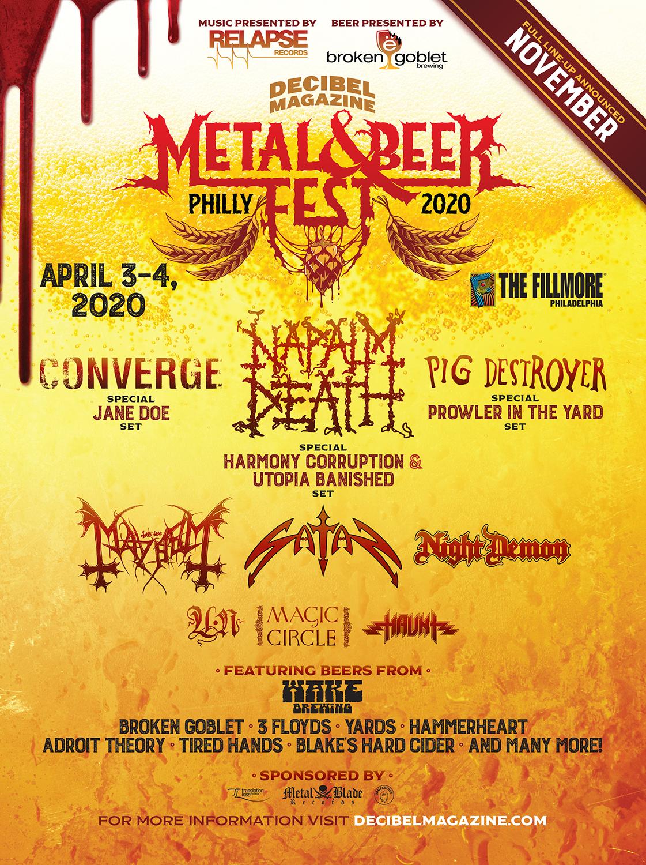 Decibel Metal and Beer Fest 2020