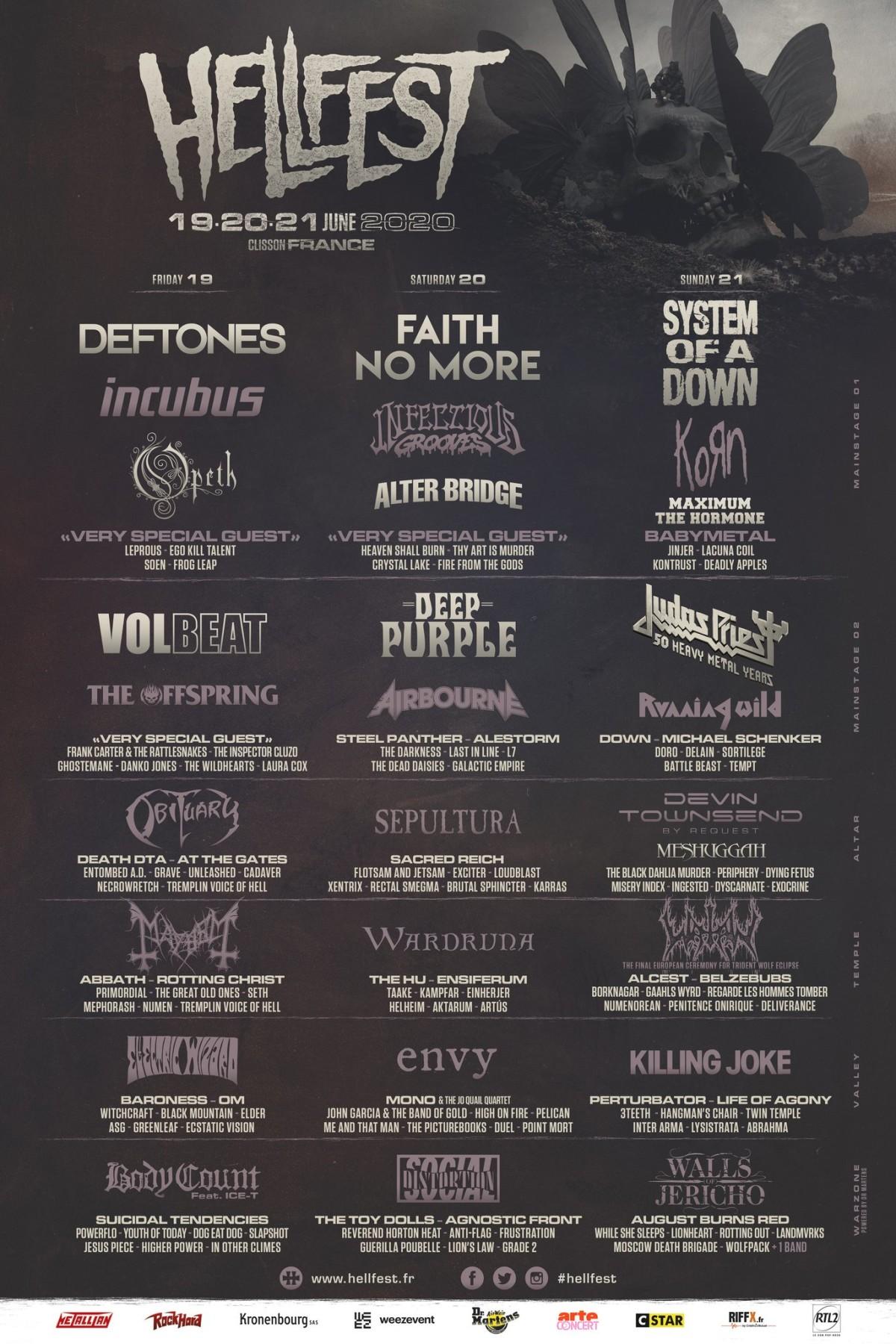 Hellfest lineup