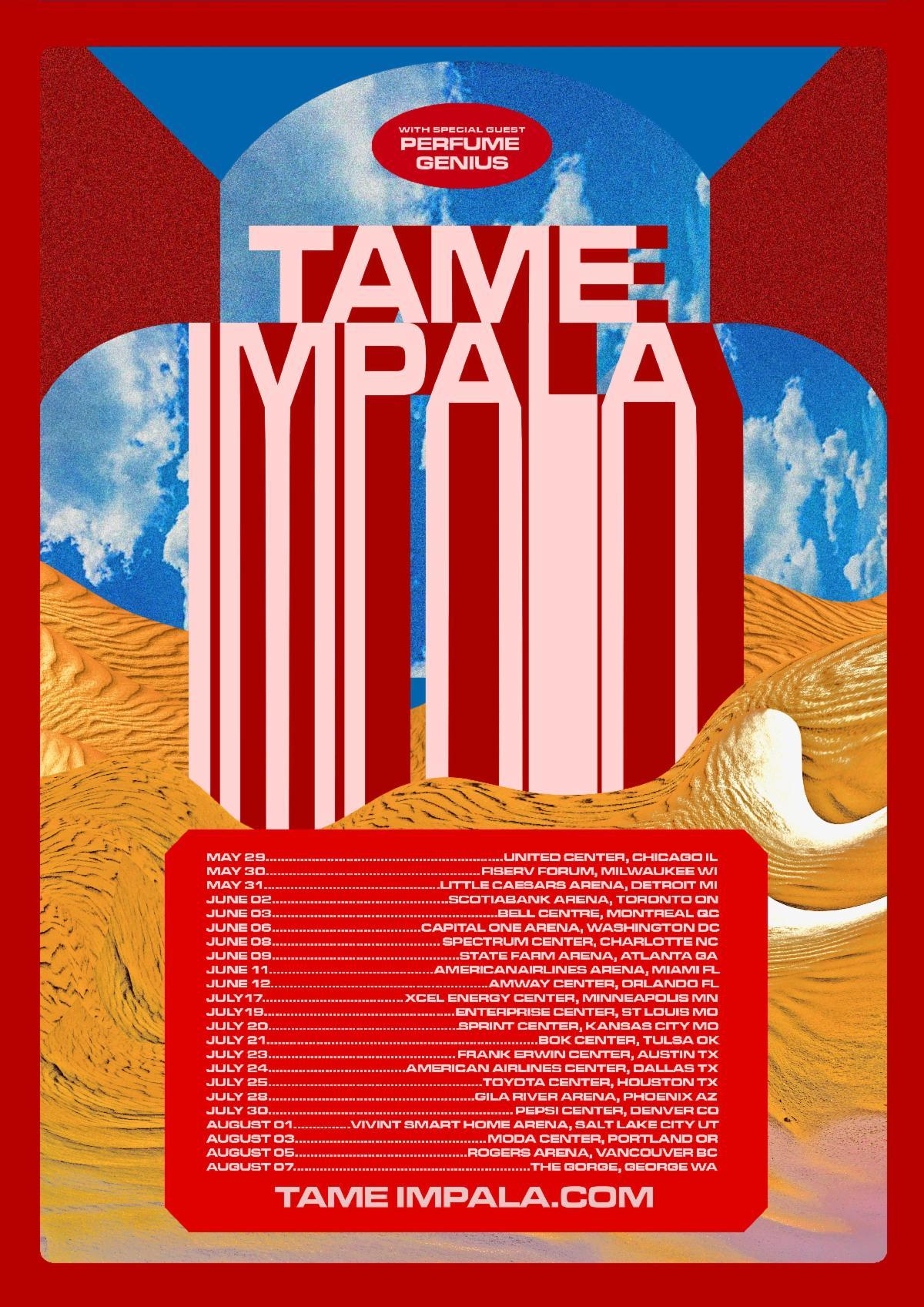 Tame Impala Perfume Genius 2020 tour