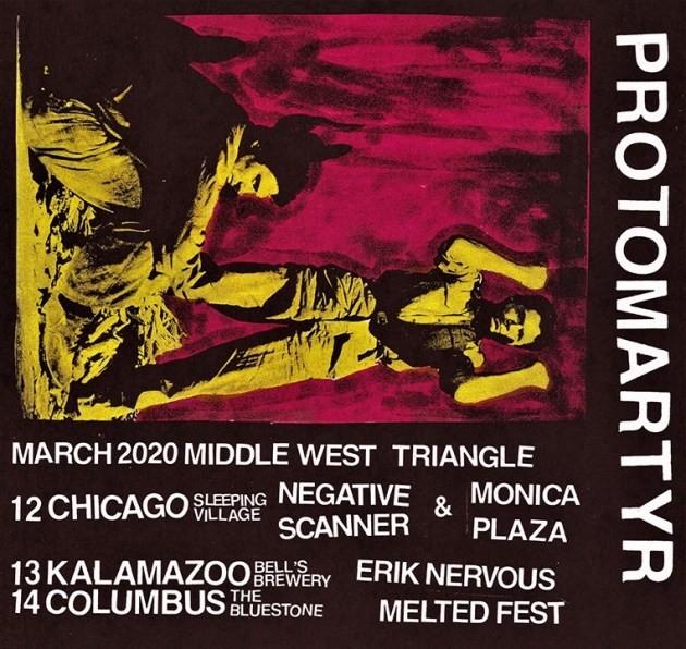 Protomartyr 2020 tour dates Kelley Deal