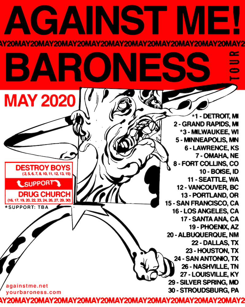 Baroness Against Me! tour dates